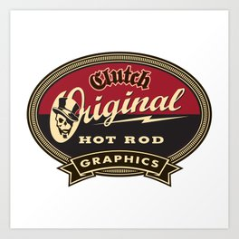 Clutchhotrods oval Art Print
