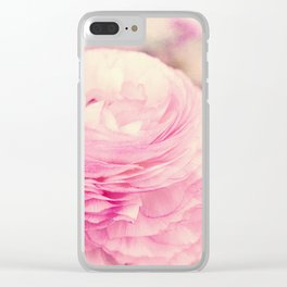 AFE Pink Ranunculus Clear iPhone Case