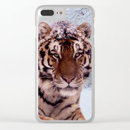 Tiger and Snow Clear iPhone Case