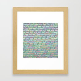 Unicorn Castle Pastel Bricks Framed Art Print
