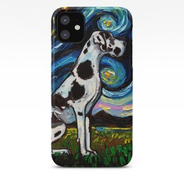 Harlequin Great Dane Night iPhone Case