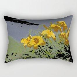 Lilies in the Rain Rectangular Pillow