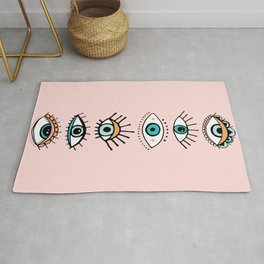 eye illustration print Rug