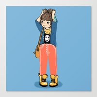 chihiro Canvas Prints featuring Chihiro by Luchie