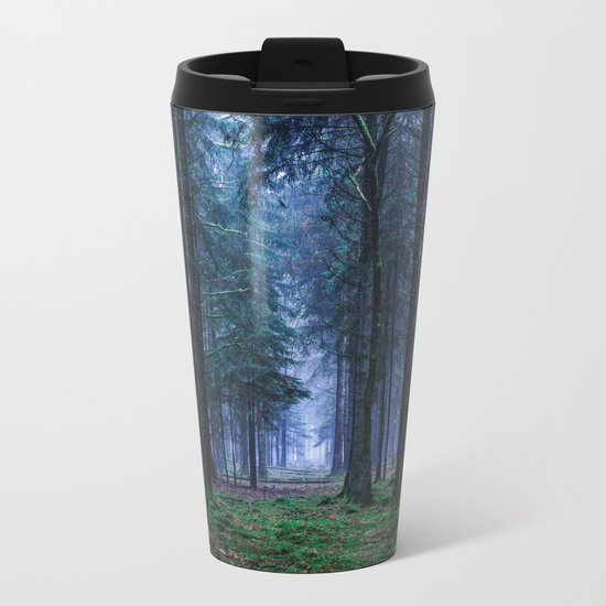 Green Magic Forest Metal Travel Mug