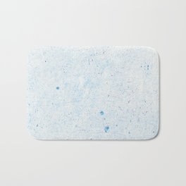 Blue Splatter Paint (Color) Bath Mat