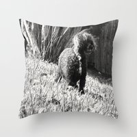 poodle Throw Pillows featuring Poodle by Quotably Yours
