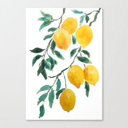 yellow lemon 2018 Canvas Print