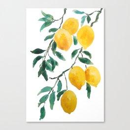 yellow lemon 2018 Canvas Print