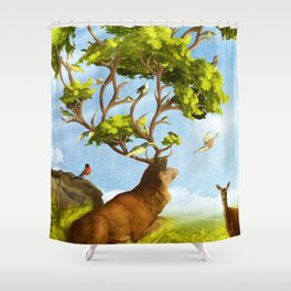 The Forest of Songs Shower Curtain