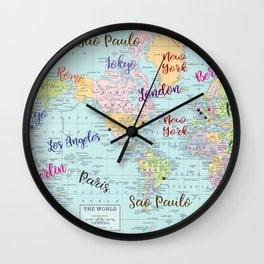 Fashion Capitals Wall Clock