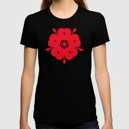 Japanese Samurai flower red pattern T-shirt
