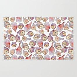 Gumnuts watercolour (white background) Rug