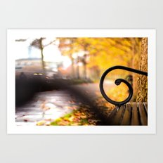 Another Bench in the Park Art Print