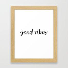 Good Vibes Drawing Framed Art Print