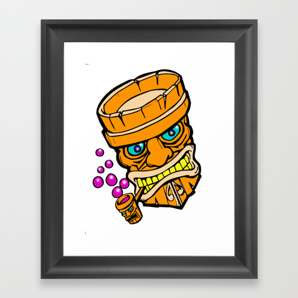 Mr Tiki The Bubble Blow'n Machine Framed Art Print by Wichitacathedral FRM8501148