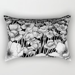 The Field of Poppies Rectangular Pillow
