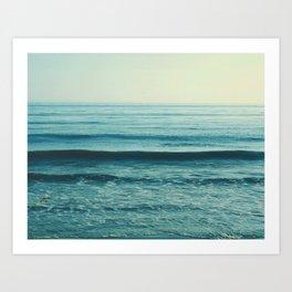 Beach Waves photo. Somewhere Art Print