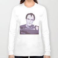 tarantino Long Sleeve T-shirts featuring Quentin Tarantino by Fanny Öqvist Westerberg