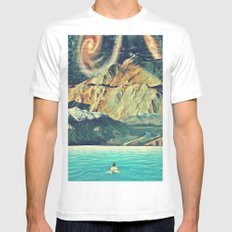 Youniverse. Mens Fitted Tee MEDIUM White