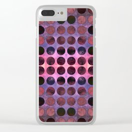 MELANGE of Purple-Coral-Rust no2 Clear iPhone Case