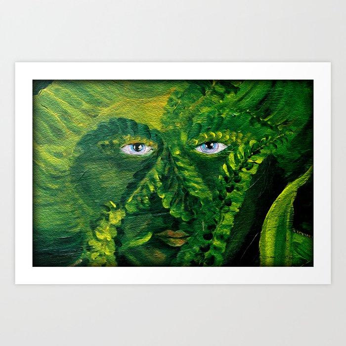 Garden Guardian Hurricane Gnome Art Print