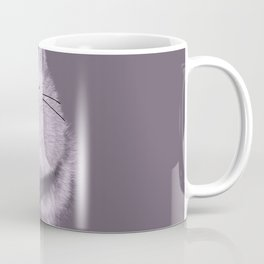 Cute Fluffly cat on pastel purple Coffee Mug