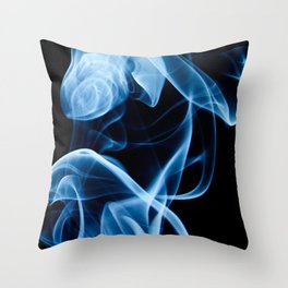 Blue Smoke Throw Pillow