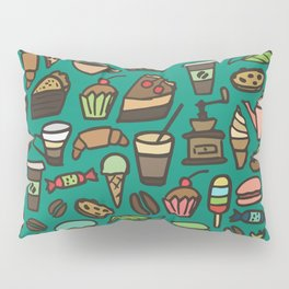 Coffee and pastry  Pillow Sham