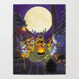 Animal summer camp Poster