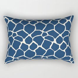 Giraffe Pattern Animal Print (navy) Rectangular Pillow