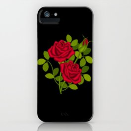 Painted Red Roses iPhone Case