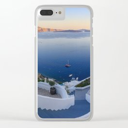 Stairways in Oia Santorini Clear iPhone Case