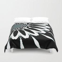 The Modern Flower Black White Blue Duvet Cover