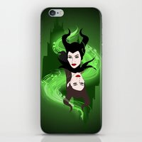 maleficent iPhone & iPod Skins featuring Maleficent by Pendientera