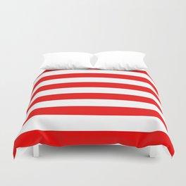 Stripe Red White Duvet Cover