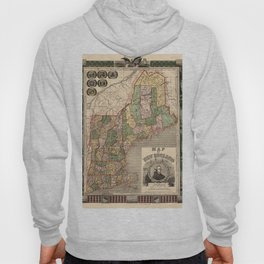 Map of New England 1847 Hoody