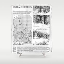 Roadside Vegetation - Generals Highway, Three Rivers, Tulare County, CA Shower Curtain