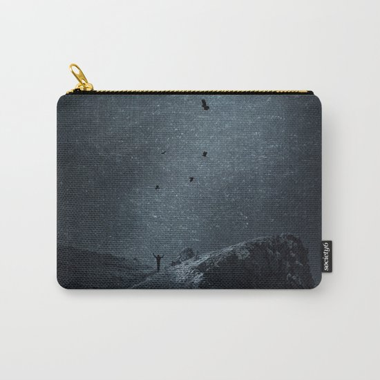 edge of always - dark blue Carry-All Pouch