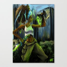 Linda Zombieater Burns Canvas Print