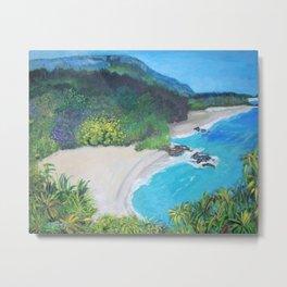 Lumahai Beach Metal Print