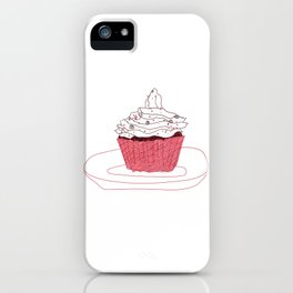 Red Velvet Vegan Cupcake  iPhone Case