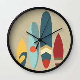 New day.new waves Wall Clock