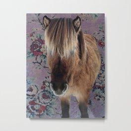 floral Icelandic pony Metal Print
