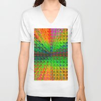 psychedelic V-neck T-shirts featuring Psychedelic by Debbie Clayton