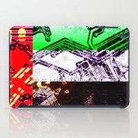 arab iPad Cases featuring circuit board united arab emirates (flag) by seb mcnulty