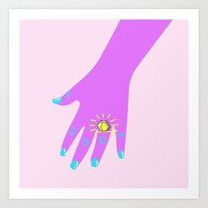 if you like it then you shoulda put a ring on it  Art Print