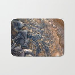 Swirling Clouds of Planet Jupiter Close Up from Juno Cam Bath Mat