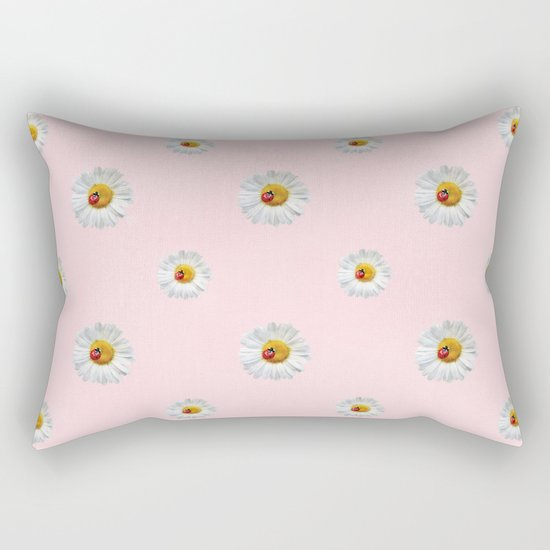 Flower Flowers Daisies in love- pink floral pattern Rectangular Pillow