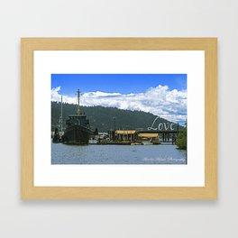 Love Harbor Framed Art Print
